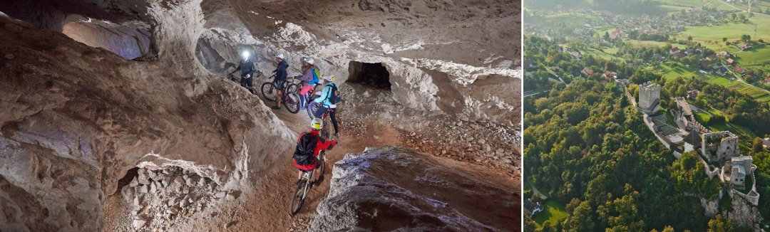 From brunch to cycling in a mine